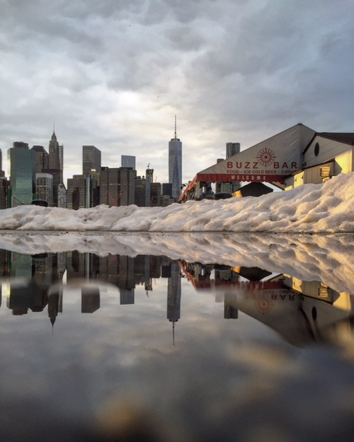 Brooklyn Pier snow melt